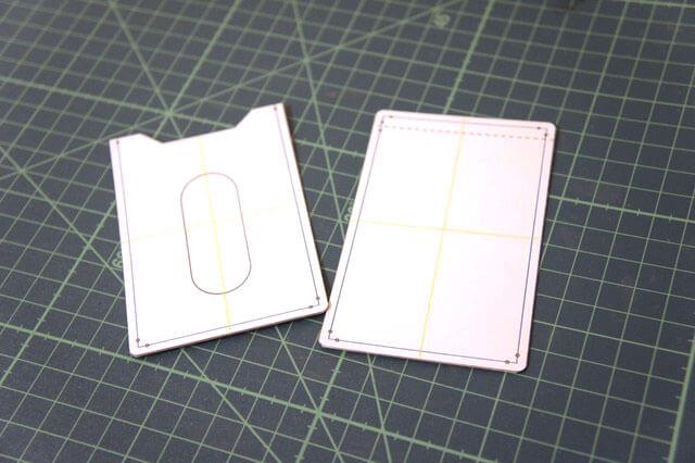 パスケースの型紙