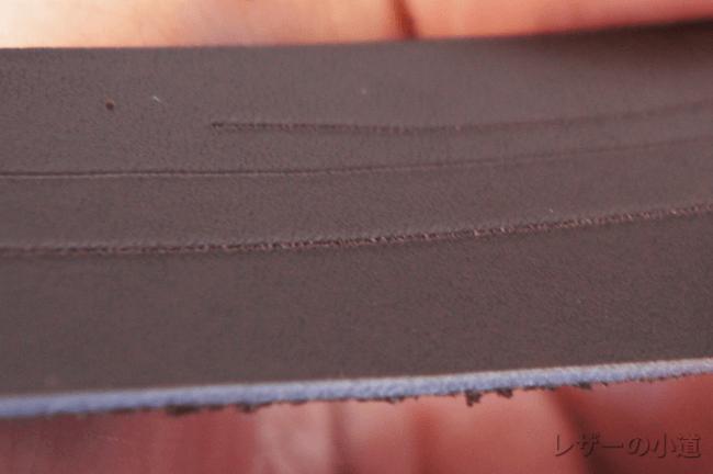 クロム鞣しのけがき線