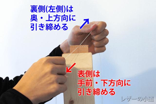 糸の引き締め方向